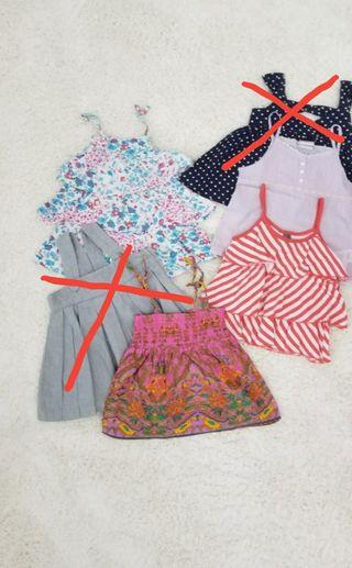 Pack 4 blusas niña 2-3 años