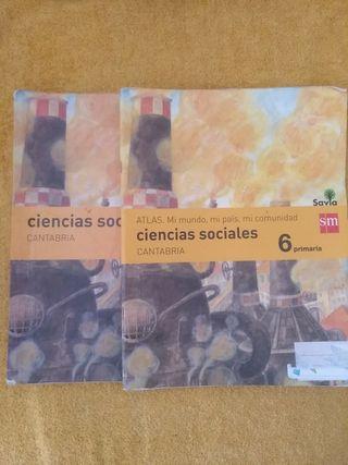 Libro y atlas 6 primaria ciencias sociales. SM