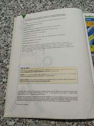 Libros 3° ESO Física y Química Anaya