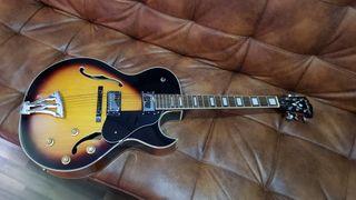 Guitarra electrica acustica tipo jazz Washburn J3