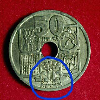 Colección monedas 50 céntimos agujero 1949/1963