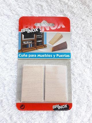NUEVO 2 cuñas madera haya para muebles y puertas