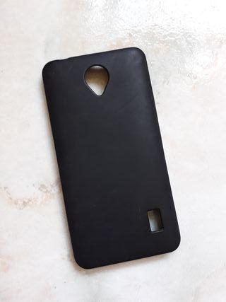Funda negra de goma para Huawei Y635