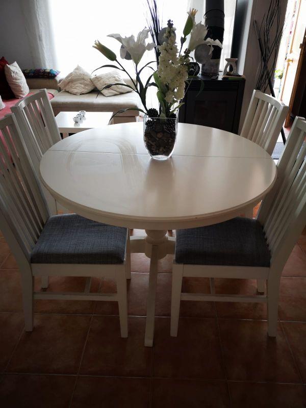 Mesa de cocina/comedor Ikea blanca de segunda mano por 299 ...