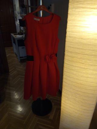 vestido de fiesta talla XL color rojo