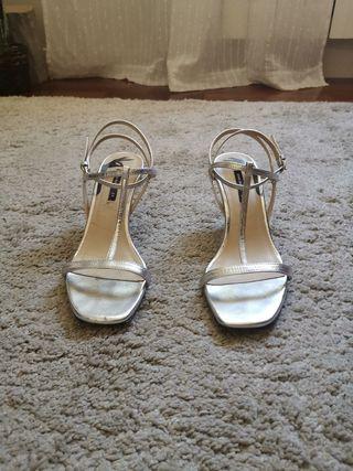 Sandalias atadas al tobillo zara 39 Chicfy