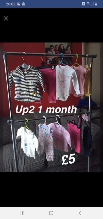 girls bundle up2 1 month