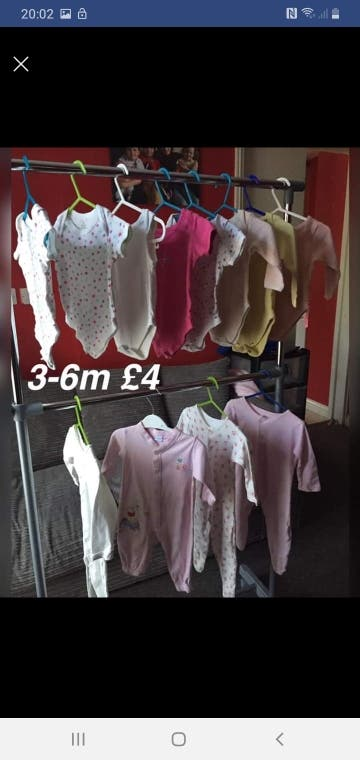 girls small bundle 3-6m
