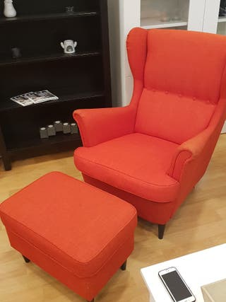 sillon orejero + reposapies