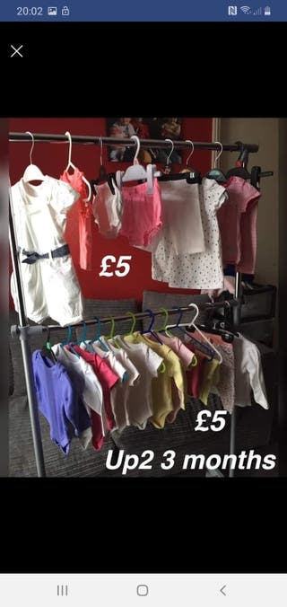 girls bundles up2 3 months £5 each