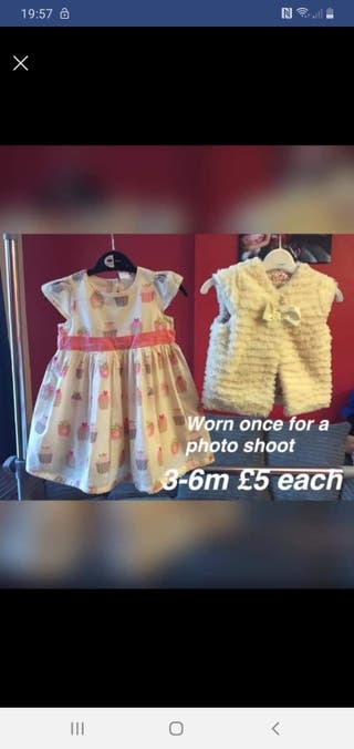 girls dress & jacket 3-6m