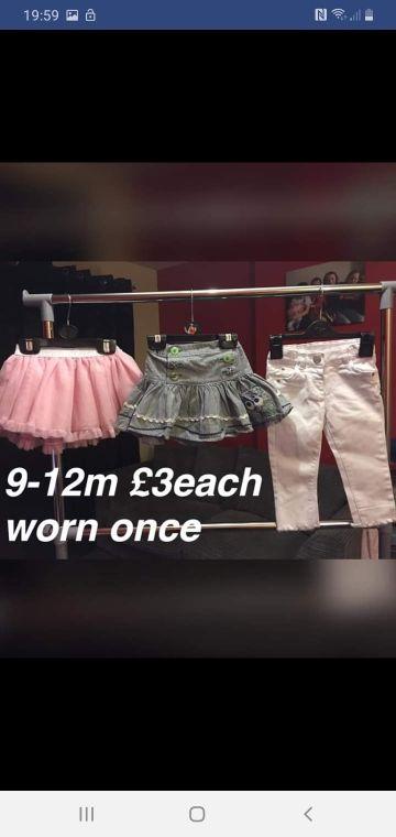 girls 9-12m £3 each