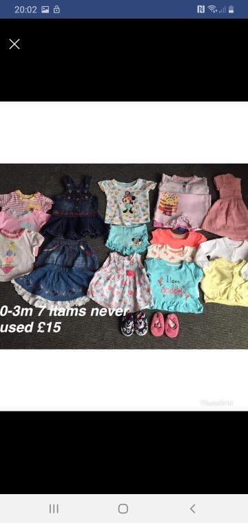 girls summer bundle 0-3m