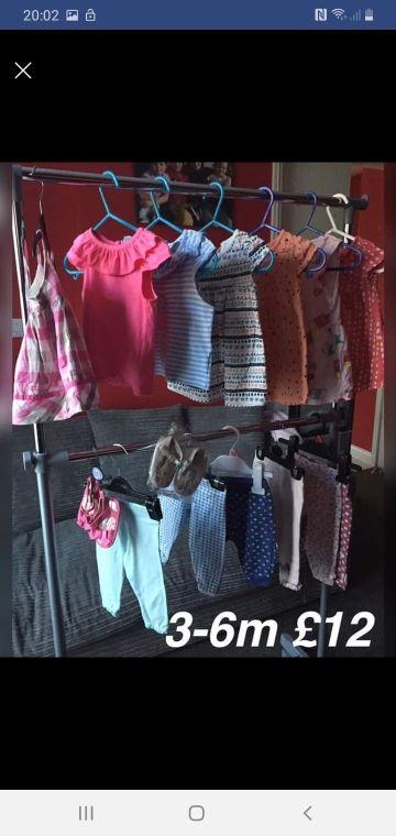 girls summer bundle 3-6m