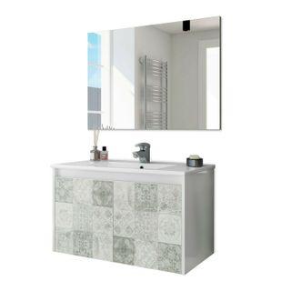 Mueble de baño baldosas hidráulicas, módulo 2 puer