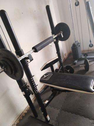 Juego de máquinas de gimnasio