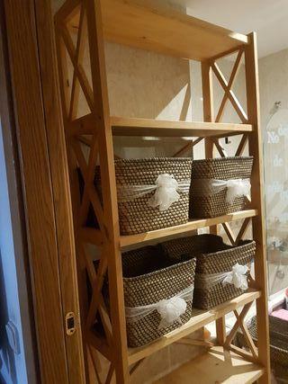 estantería baño y cestas( 197x80)