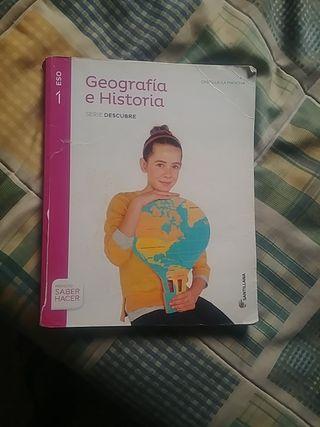 libro de geografía e historia 1 de la E.S.O