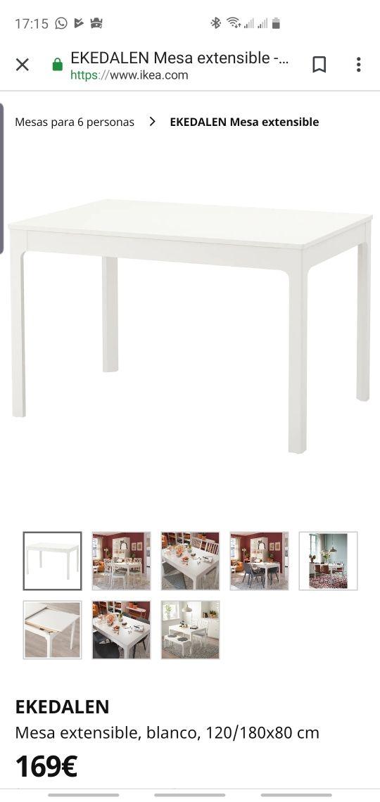 Mesa cocina extensible Ekedalen Ikea de segunda mano por 130 € en ...