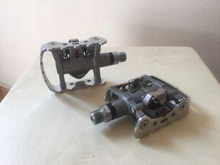 Pedales mixtos plataforma/automático Shimano