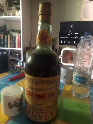 Botella brandy espléndido sello 4 pesetas