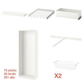 PaxKomplement Mano Segunda Por 40 Ikea Blanco Pack Armario De u1KJcFT3l