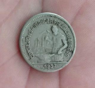 moneda 50 céntimos 1937