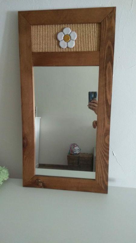 Espejo rústico ideal para entrada