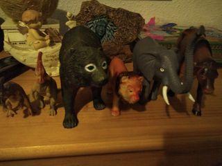 juguete de animales grandes elefante,oso, león...