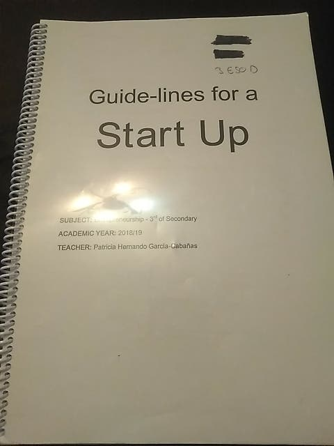 Guide-lines for a start up