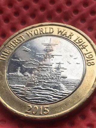 2 pound coin the First World War.