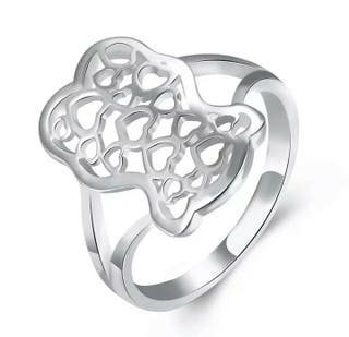 anillo Oso talla 7 y 8. color plata. Acero Inoxida