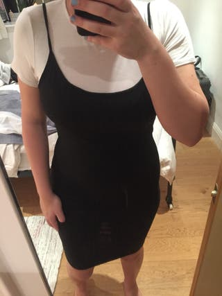 Black Dress with White T-shirt attached