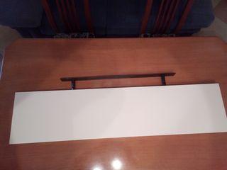 2 Baldas de pared con anclaje de hierro