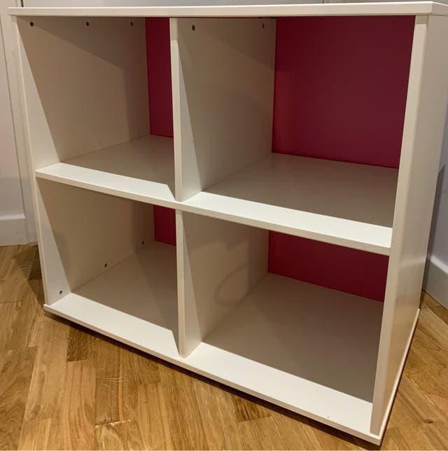 Kids shelf open cupboard