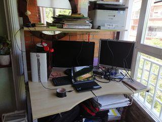 ordenador pavilion con portátil e impresora