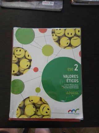 libro de texto 2 de eso valores éticos