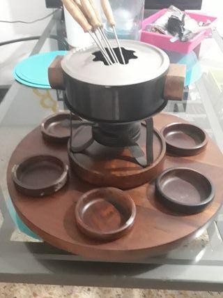 Juego fondue vintage. Muy bonito. traido de Suiza