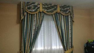cortinas, edredon y colcha
