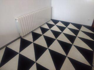 alfombra blanca y negra ikea