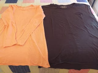 camiseta manga larga y manga corta