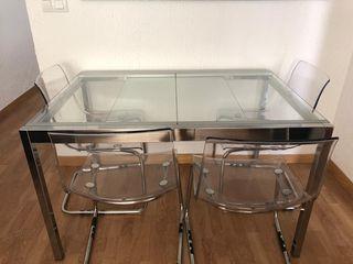 Mesa extensible ikea y 4 sillas