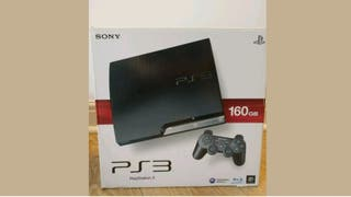 PS3 slim 160GB console with 3 Controllers