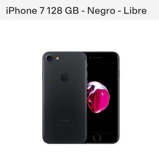 Iphone 7 128 gigas negro