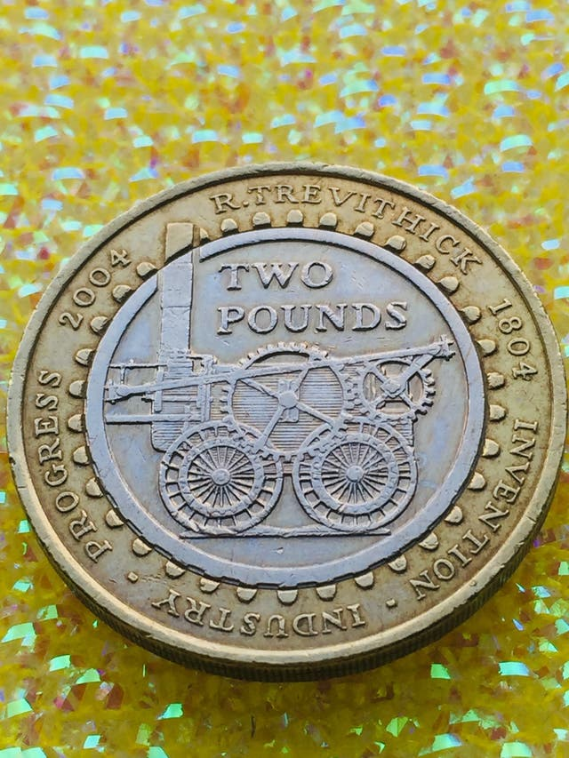 2 pound coin Trevithick 2004 invention industry.