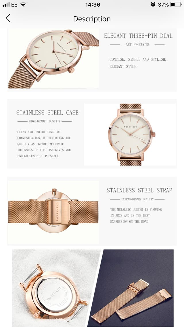 Women's Rose Gold Fashion Watch