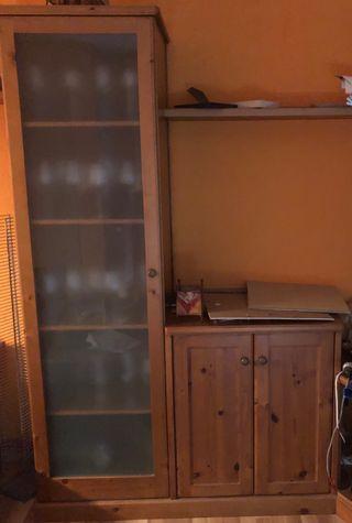Vidriera+armari i 2 prestatges x la sala-menjador