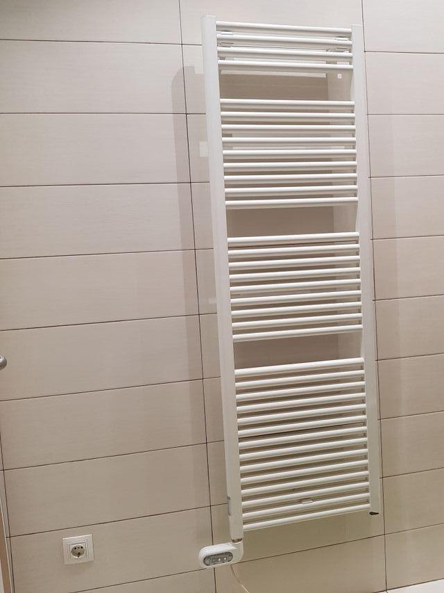 Toallero eléctrico radiador novo 1520×500 blanco