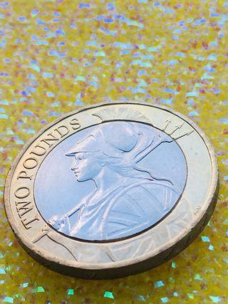 2 pound coin Britannia 2016.