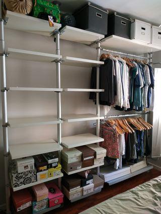 Vestidor modular STOLMEN de Ikea. Vendo por piezas